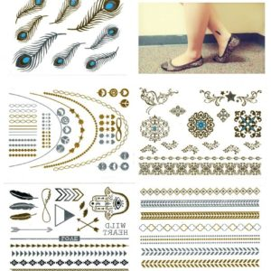 metallic flash temporary tattoos